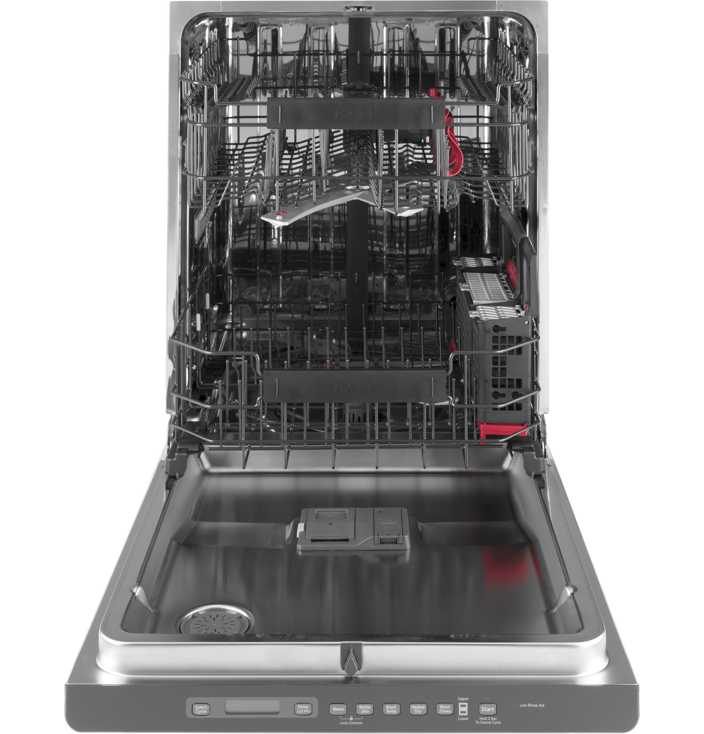 Café™ Stainless Interior Built-In Dishwasher with Hidden Controls
