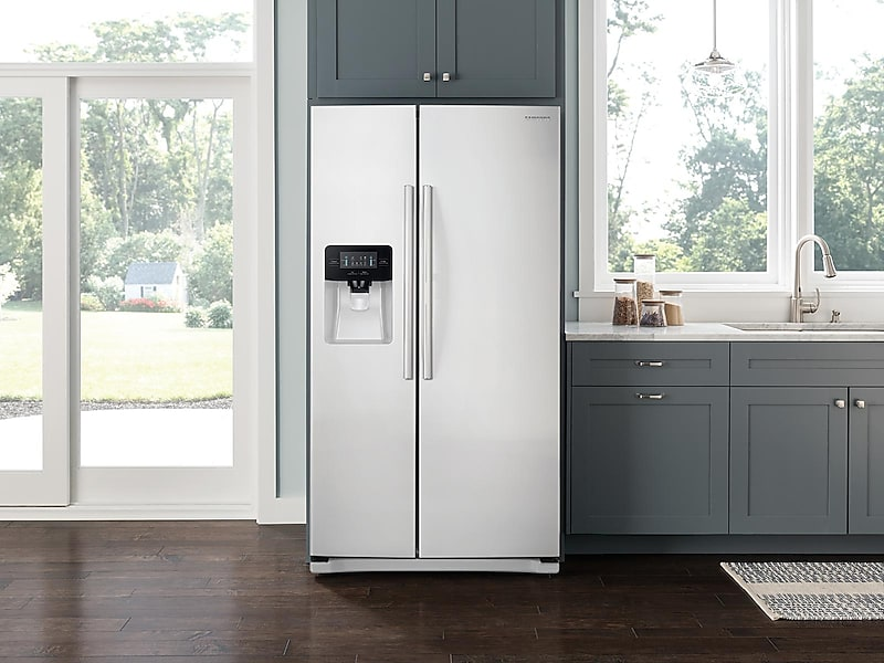Model: 3RS25J500DWWWEB | Samsung 25 cu. ft. Side-By-Side Refrigerator with LED Lighting