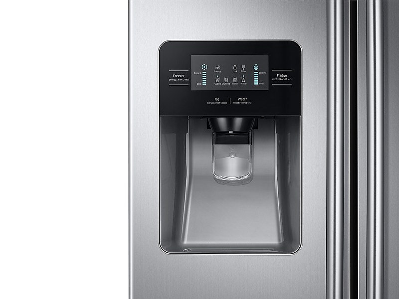 Model: 3RS25J500DSRWEB | Samsung 25 cu. ft. Side-By-Side Refrigerator with LED Lighting