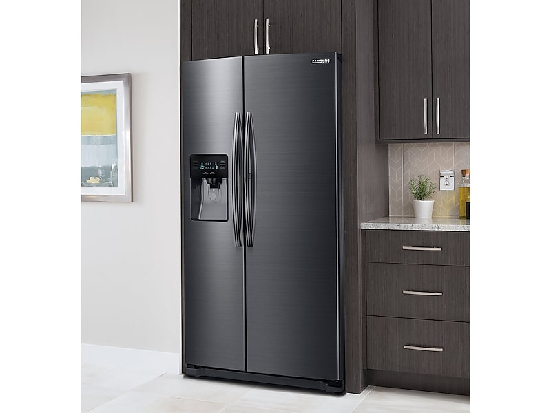 Model: 3RH25H5611SGWEB | 24.7 cu. ft. Side-by-Side Food ShowCase Refrigerator with Metal Cooling