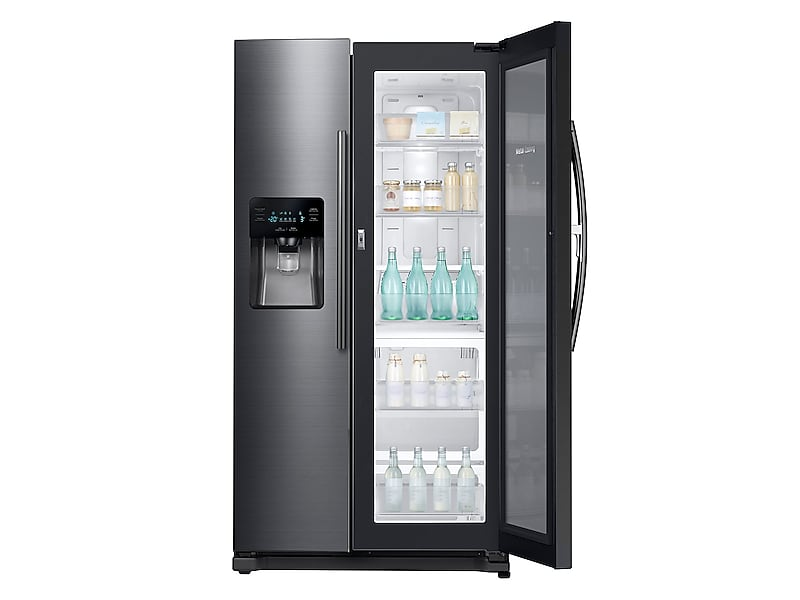 Model: 3RH25H5611SGWEB | Samsung 24.7 cu. ft. Side-by-Side Food ShowCase Refrigerator with Metal Cooling