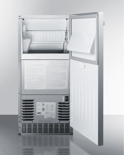 "Model: BIM68OSPUMP | Summit 15""Wide Ice Maker with internal drain pump"