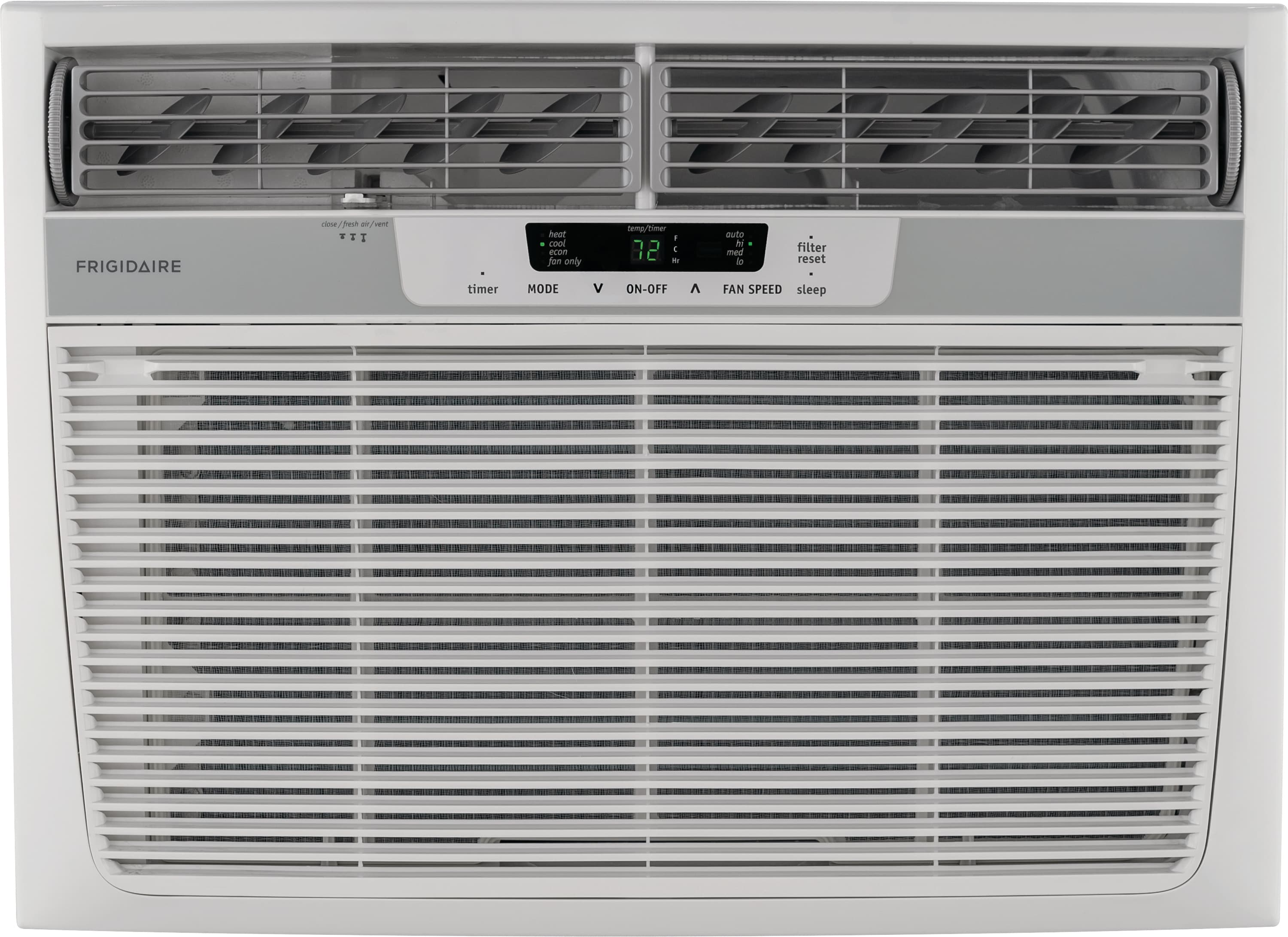 18,500 BTU Window-Mounted Room Air Conditioner with Supplemental Heat