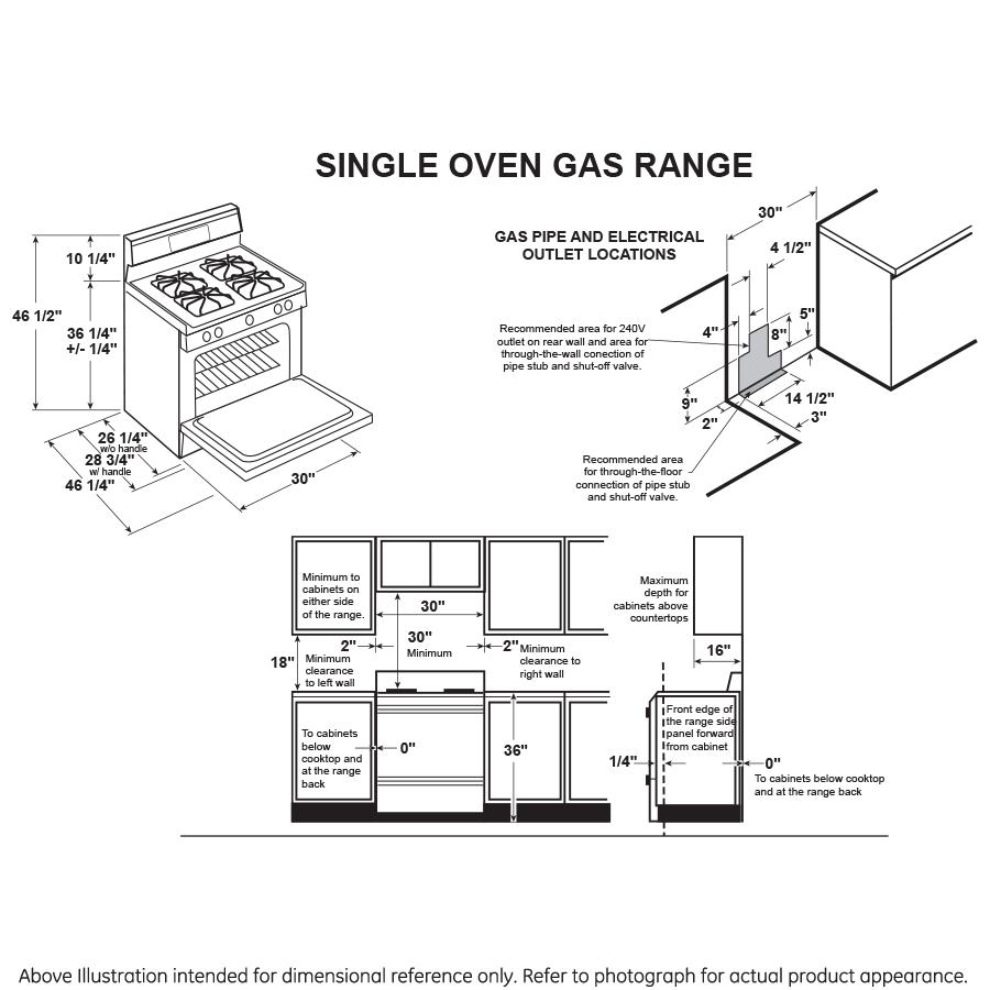 "Model: JGBS10DEMBB | GE GE® 30"" Free-Standing Front Control Gas Range"