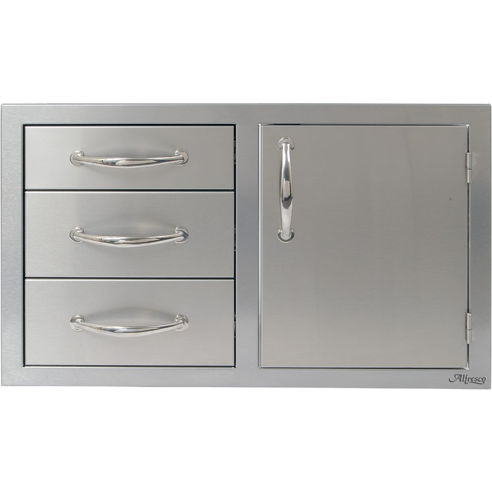Alfresco 32 In. Combo Door Plus Three Drawers