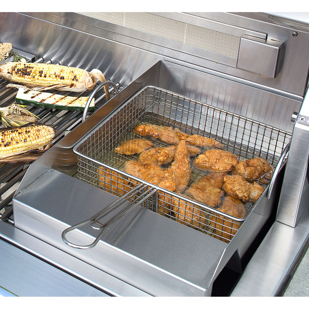 Grill-Mounted Steamer/Fryer