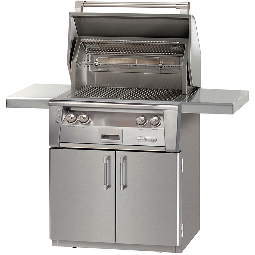 Alfresco 30-In. 2-Door Natural Gas Grill with Sear Zone on Cart