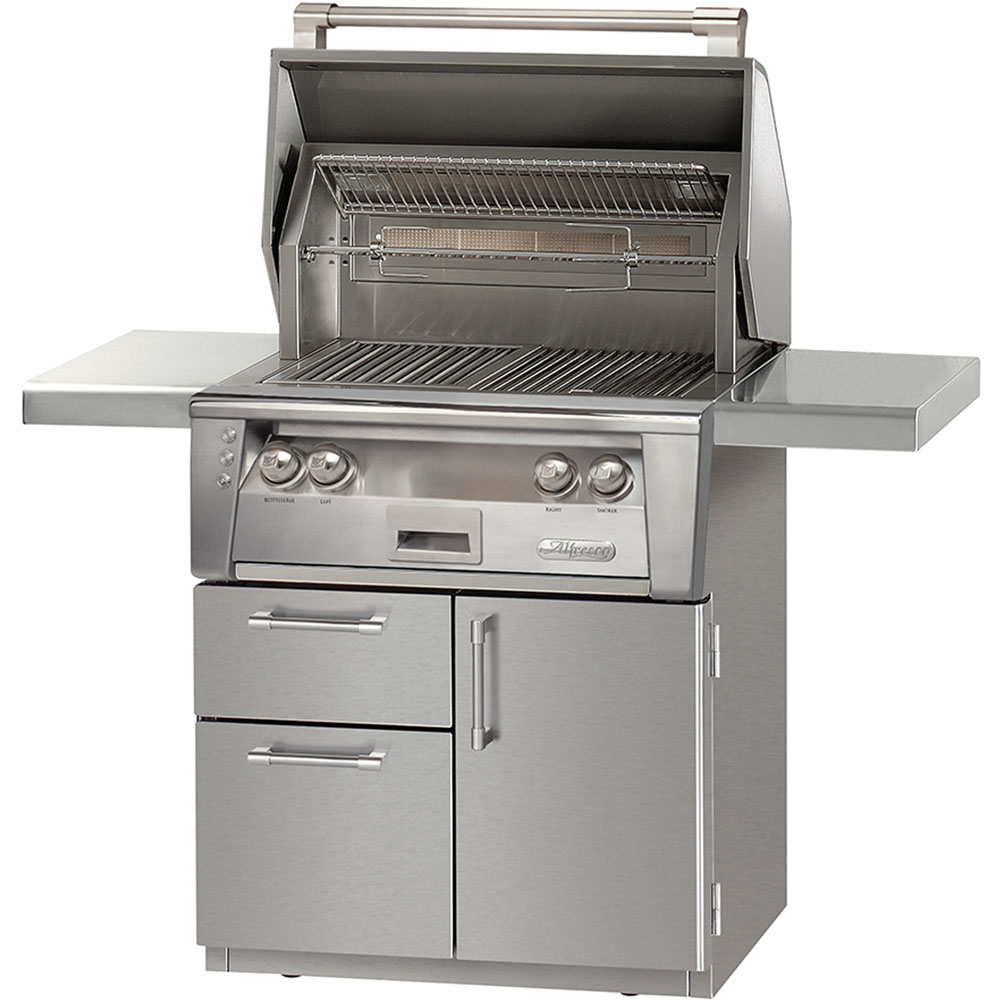 Alfresco 30-In. Natural Gas Grill with Sear Zone on Deluxe Cart
