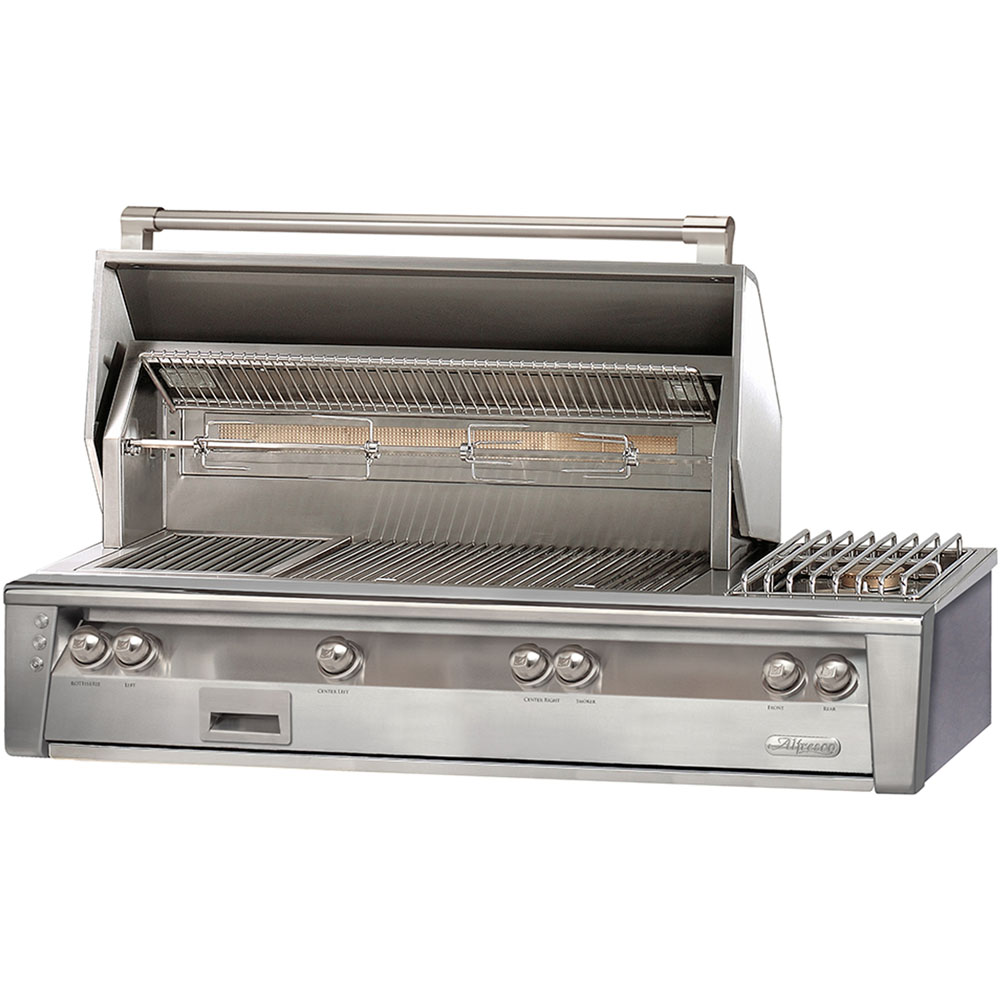 56-In. Built-In Liquid Propane Grill with Side Burner