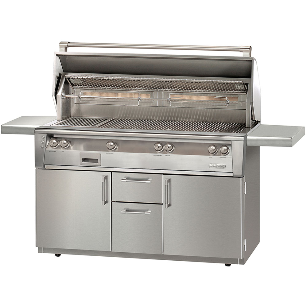 Alfresco 56-In. Natural Gas Jumbo Grill with Sear Zone on Cart