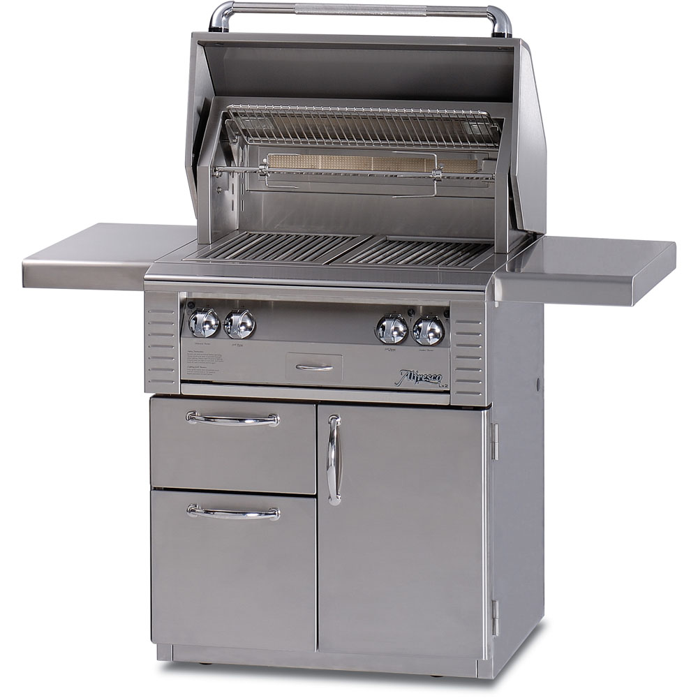 Alfresco 30 In. All Infrared Liquid Propane Deluxe Grill Cart
