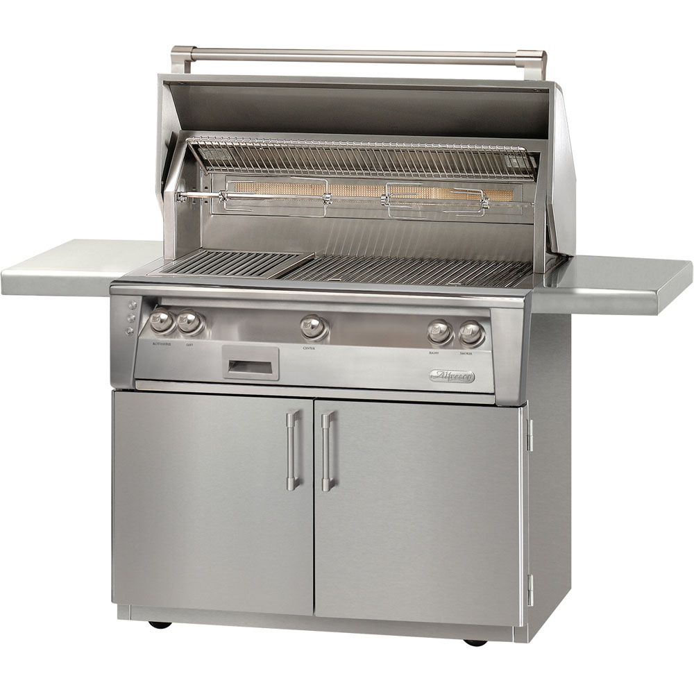 Alfresco 42 In. Liquid-Propane Deluxe Grill Cart