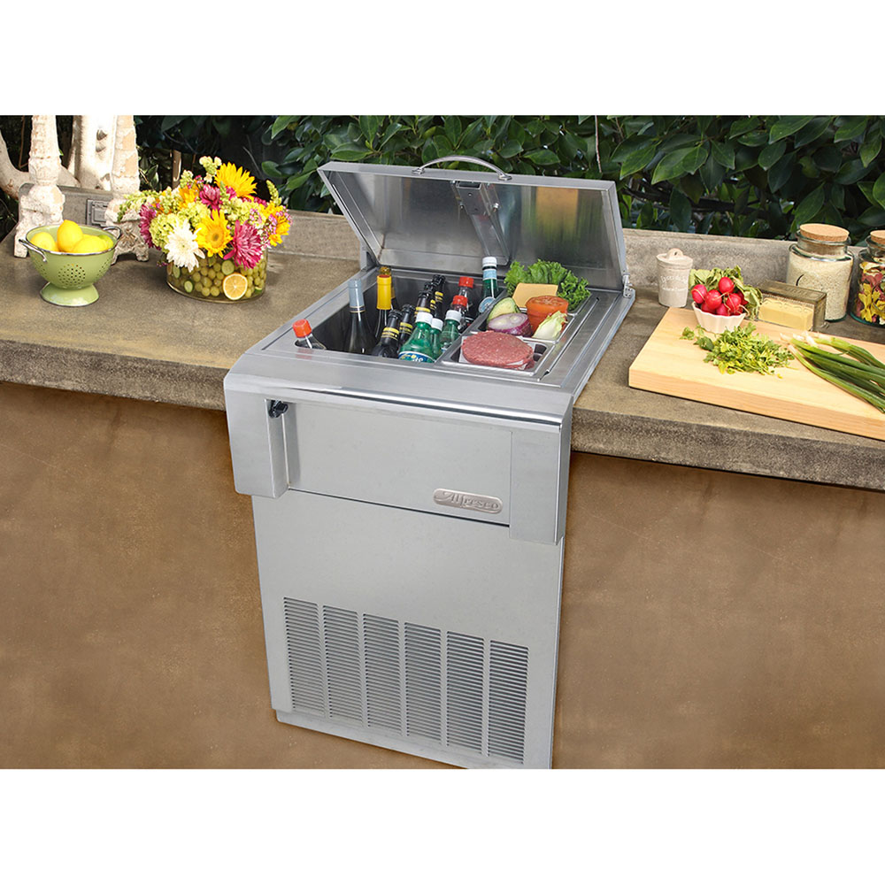 Alfresco Versa Chill Top-Open Built-In Countertop Refrigerator