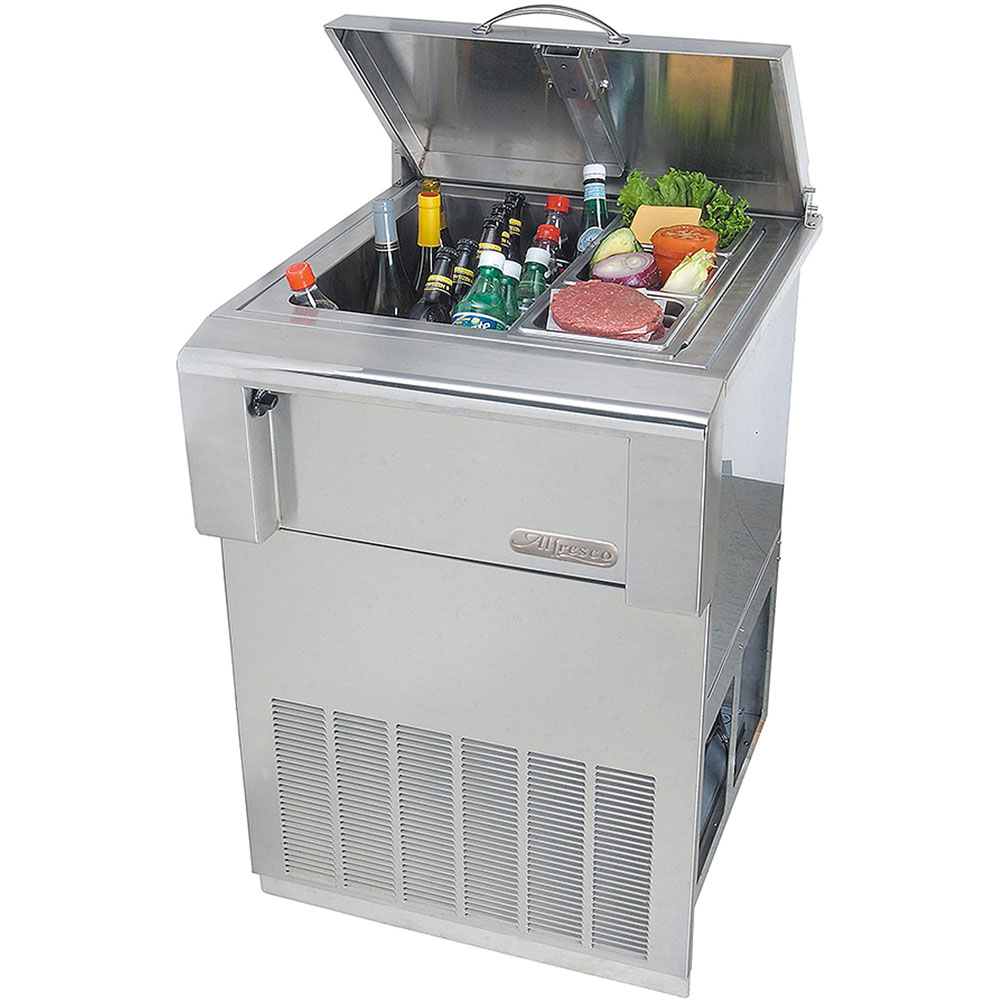Alfresco Versa Chill Top-Open Refrigerator with Freestanding Cart