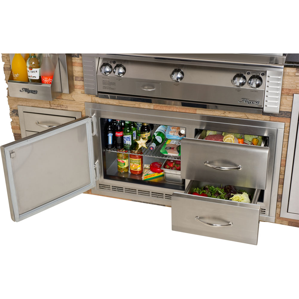 Alfresco Built-In Under-Grill Refrigerator