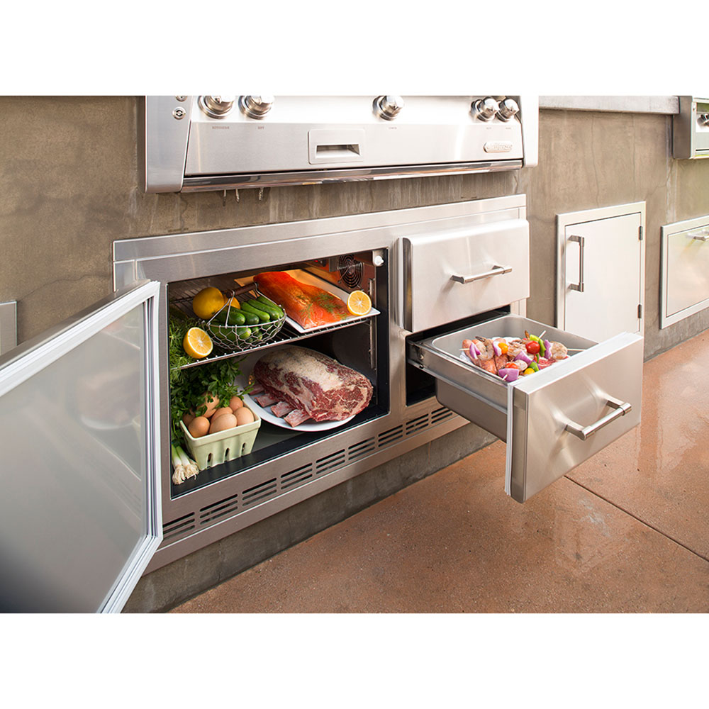 Alfresco 7.25 Cu. Ft. Built-In Under-Grill Refrigerator