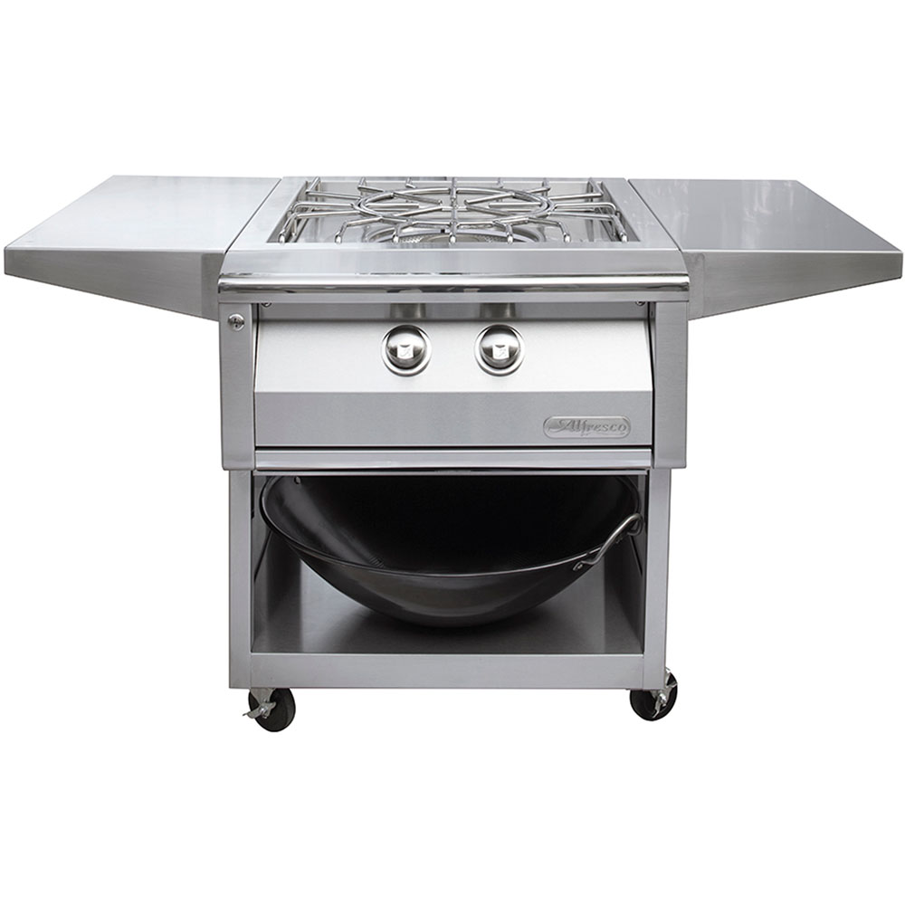 Alfresco Versa Power Cart for the Built-In Versa Power Cooking System
