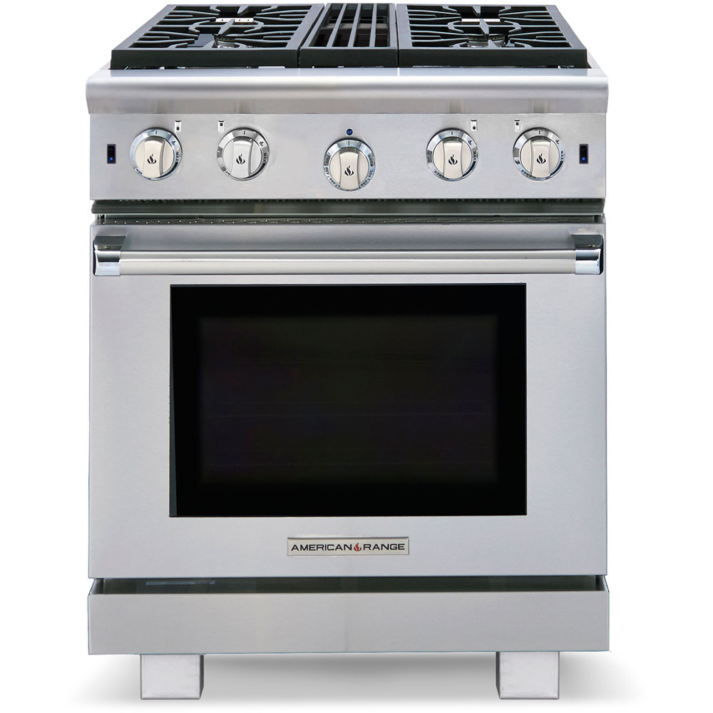 American Range 30-in. Gas Range Performer Series with Open Burners in Natural Gas