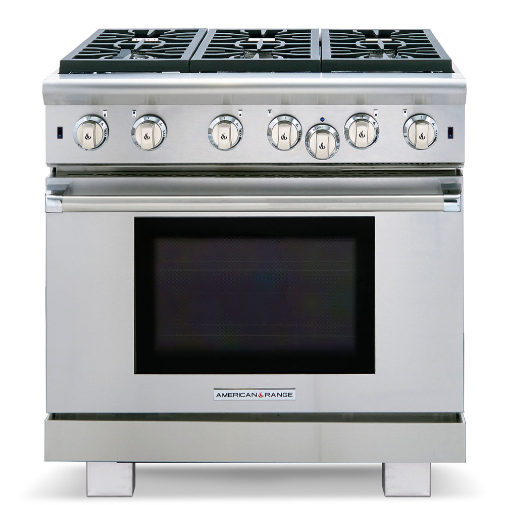 "Model: ARROB636N | American Range 36"" Performer Series Gas Range"