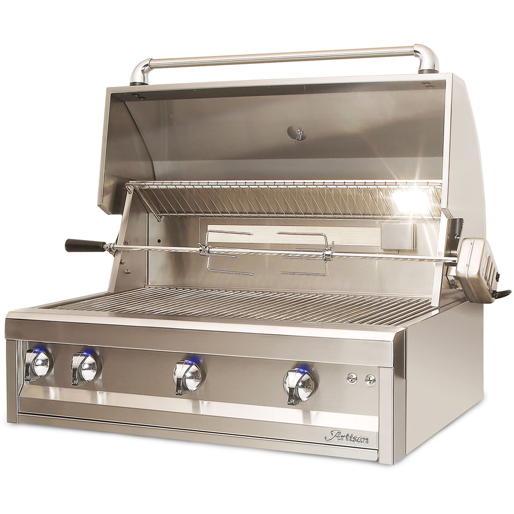 Artisan  36 Inch Classic BBQ Series Liquid-Propane Grill with Rotisserie and Light