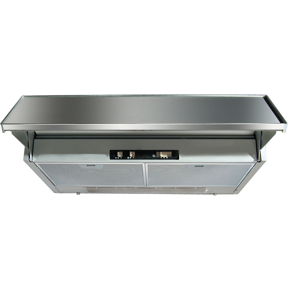 24-In. Agio Under-Cabinet Tiltout Range Hood in Black