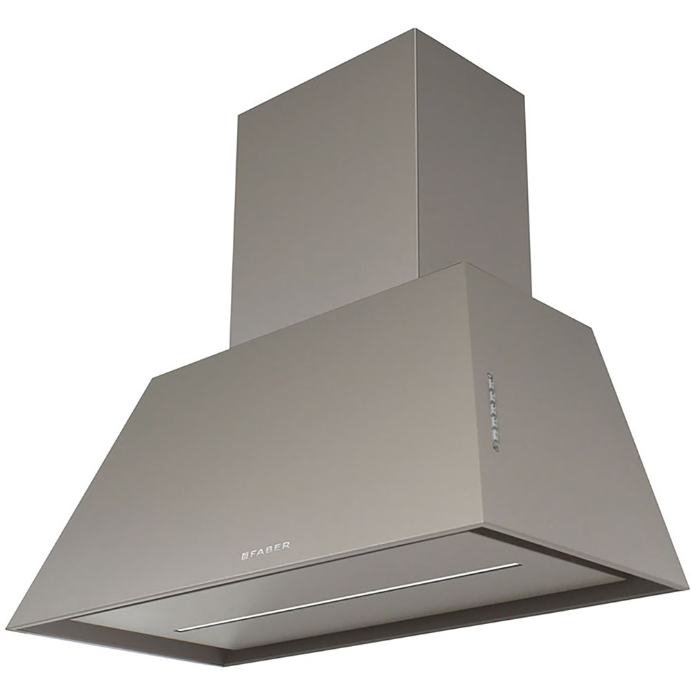 28-In. Chloe Painted Gray Range Hood - 600 CFM