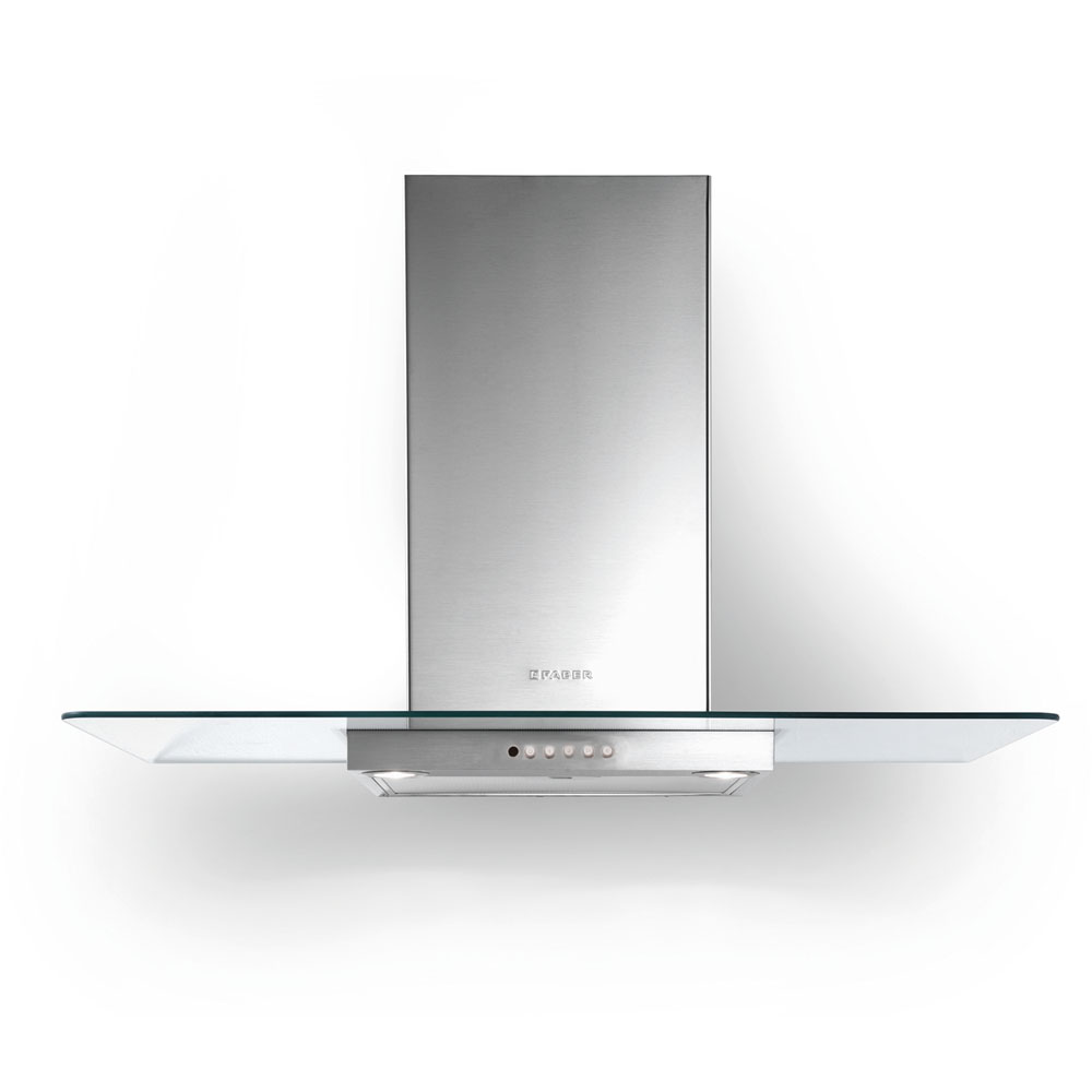 36-In. 600 CFM Glassy Wall Mount Vent Range Hood in Stainless