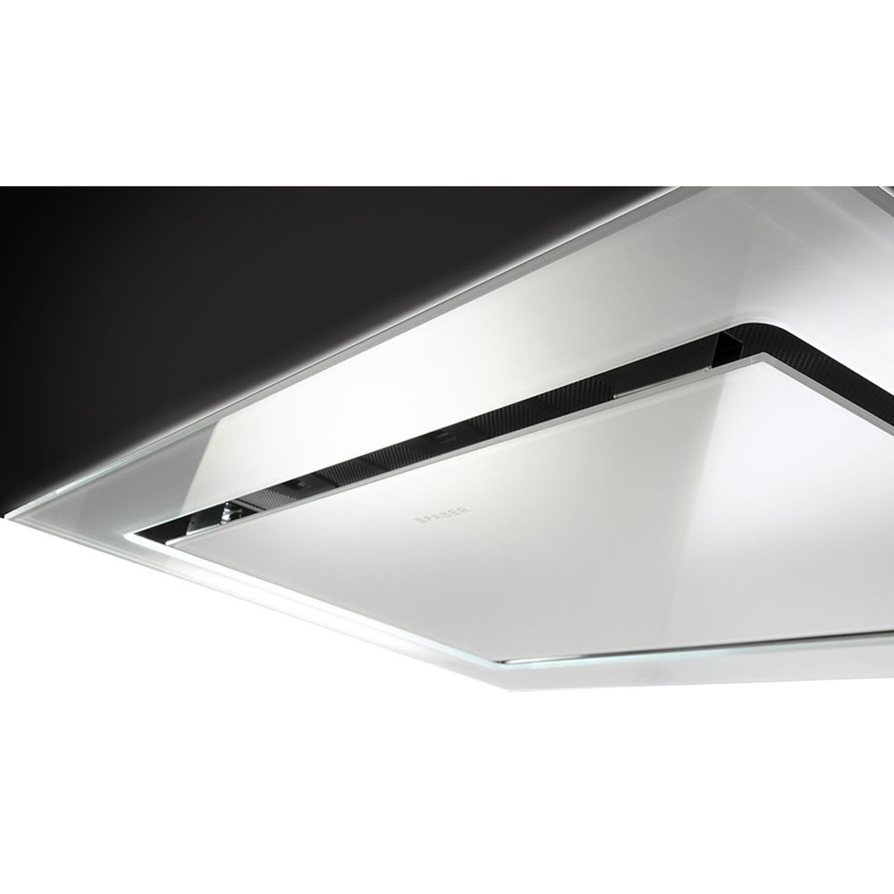 Faber 36 In. Stratus Ceiling Hood - White Glass