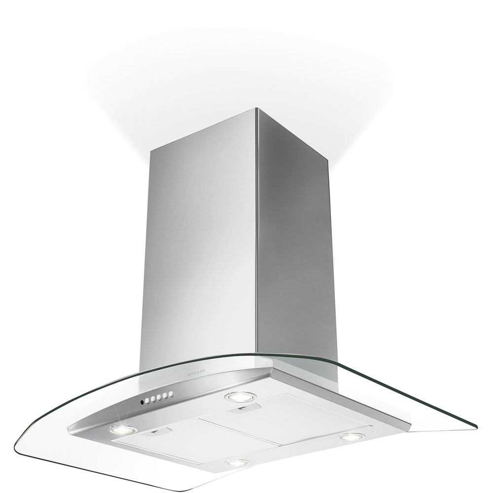 Faber 36-In. Tratto Isola Stainless Island Range Hood with 600 CFM Internal Blower
