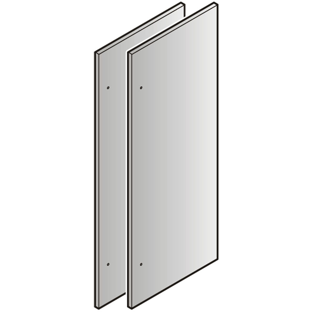 Set of 2 Stainless Steel Refrigerator Door 84-In. Panels