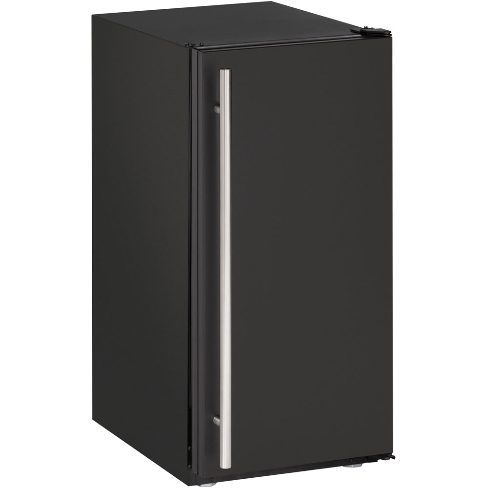 U-Line 15-In. Solid Black ADA Series Ice Maker with Field-Reversible Hinge