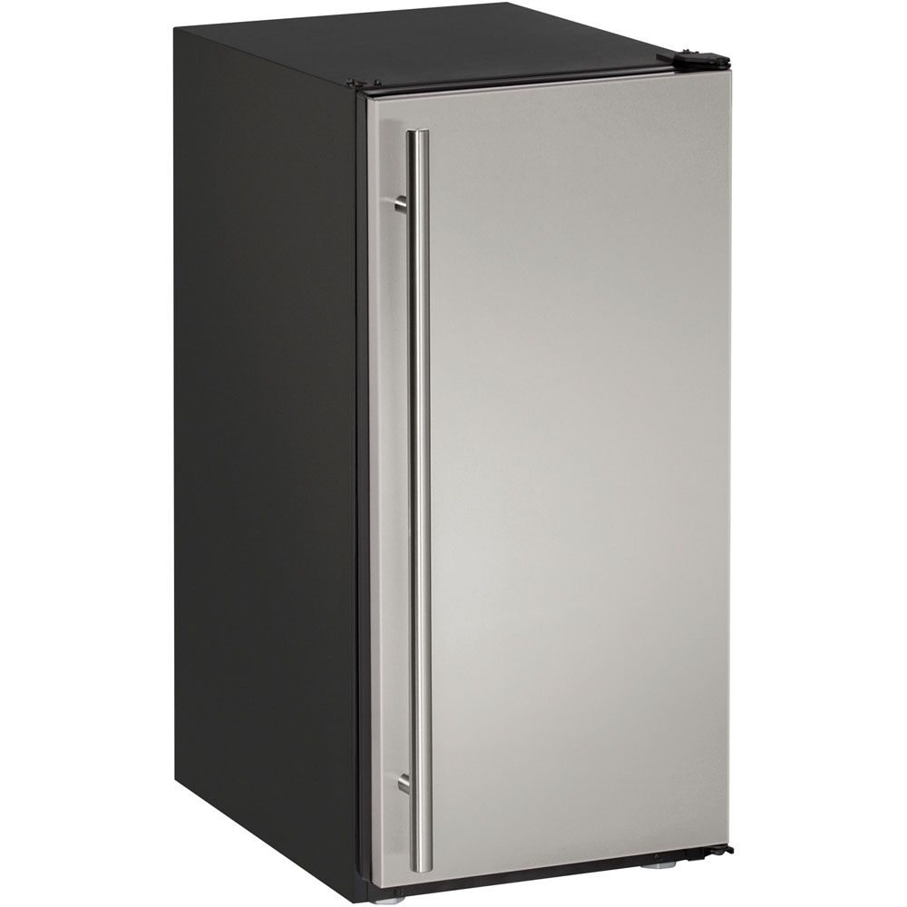 U-Line 15-In. Stainless Steel ADA Series Ice Maker with Field-Reversible Hinge