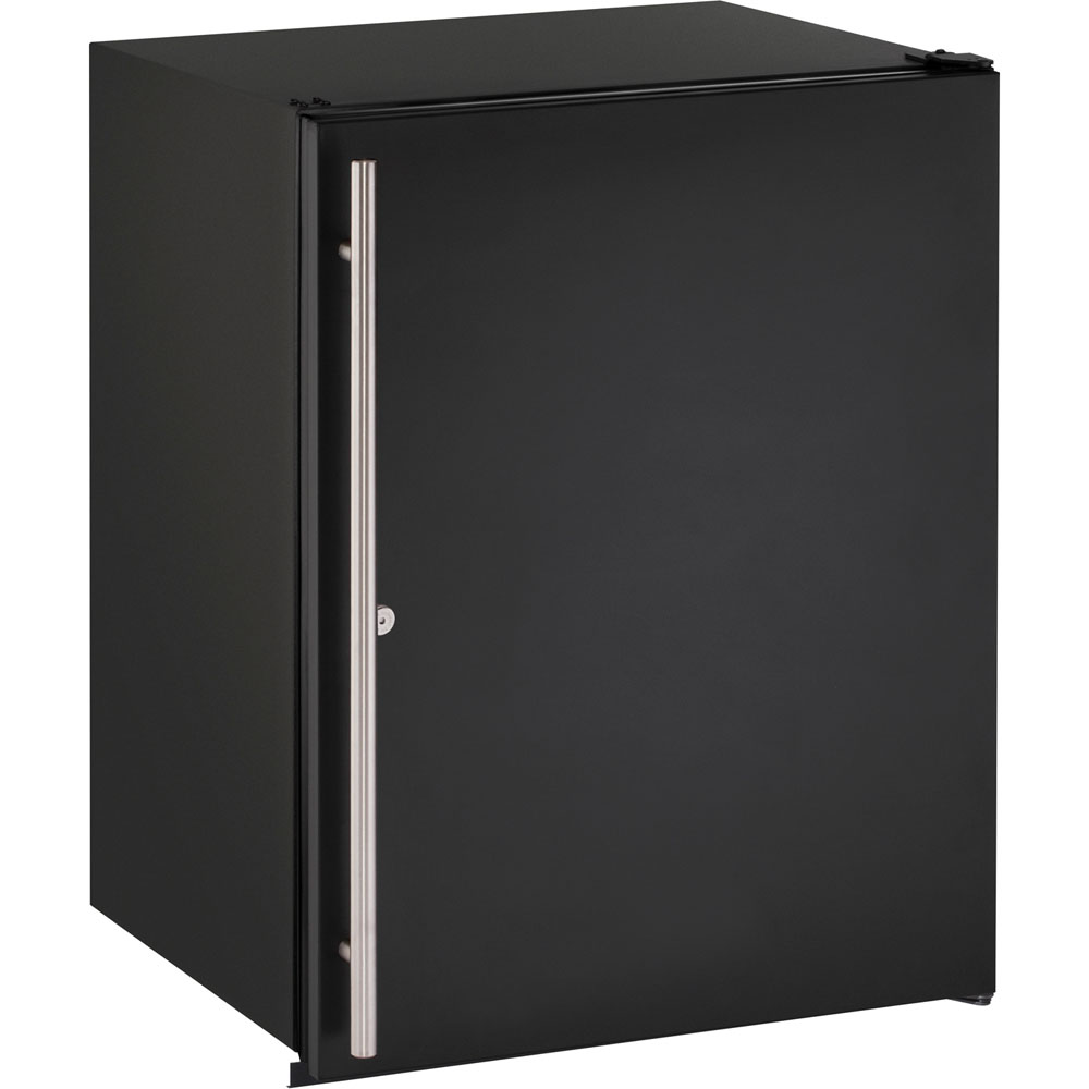 U-Line 24-In. ADA Series Solid Black, Field-Reversible Door Refrigerator with Lock