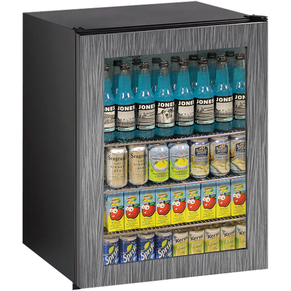 24-in. ADA Series Integrated Frame Glass Door, Field-Reversible Hinge Refrigerator