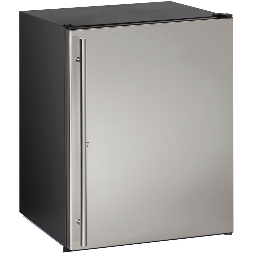 U-Line 24-in. ADA Series Stainless Steel Solid Door, Field-Reversible Hinge Refrigerator