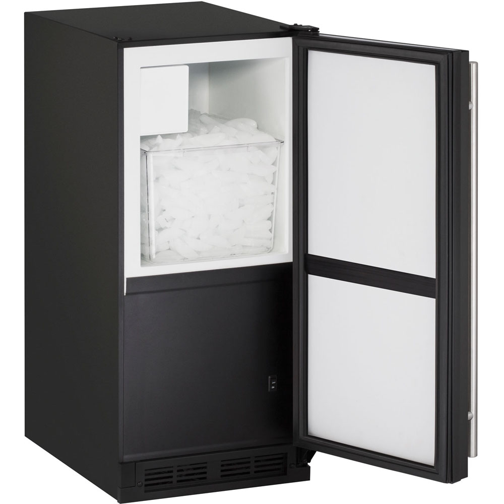 15-In. 1000 Series Black, Field-Reversible Crescent Ice Maker