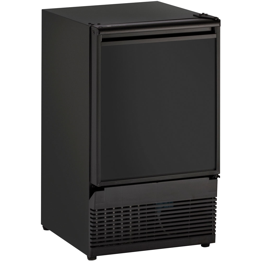 15-In. Black Field-Reversible Crescent Ice Maker