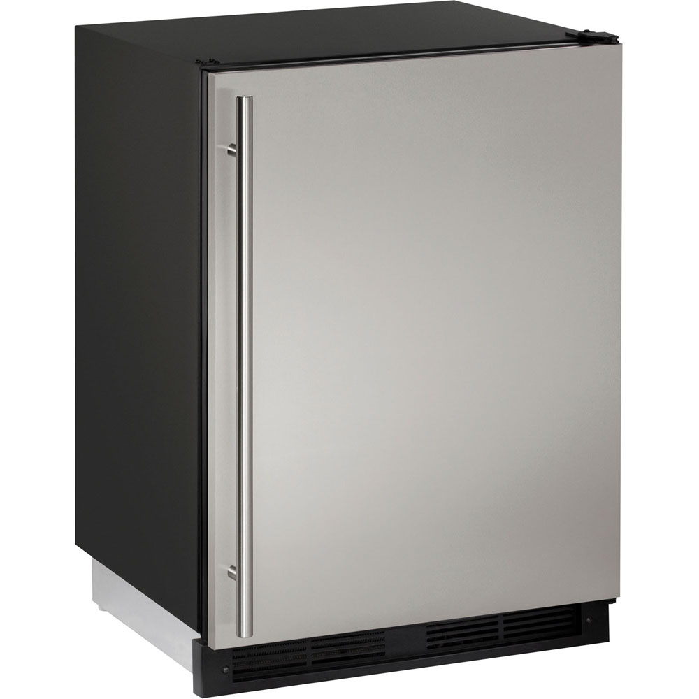 24-In. Frost-Free Stainless Field-Reversible Combo Refrigerator/Ice Maker