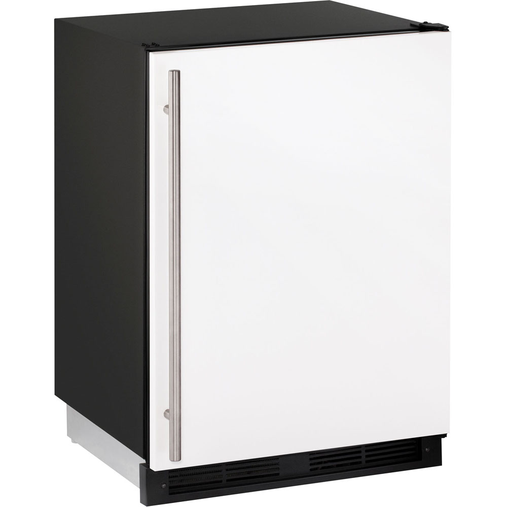24-In. Frost-Free White Field-Reversible Combo Refrigerator/Ice Maker