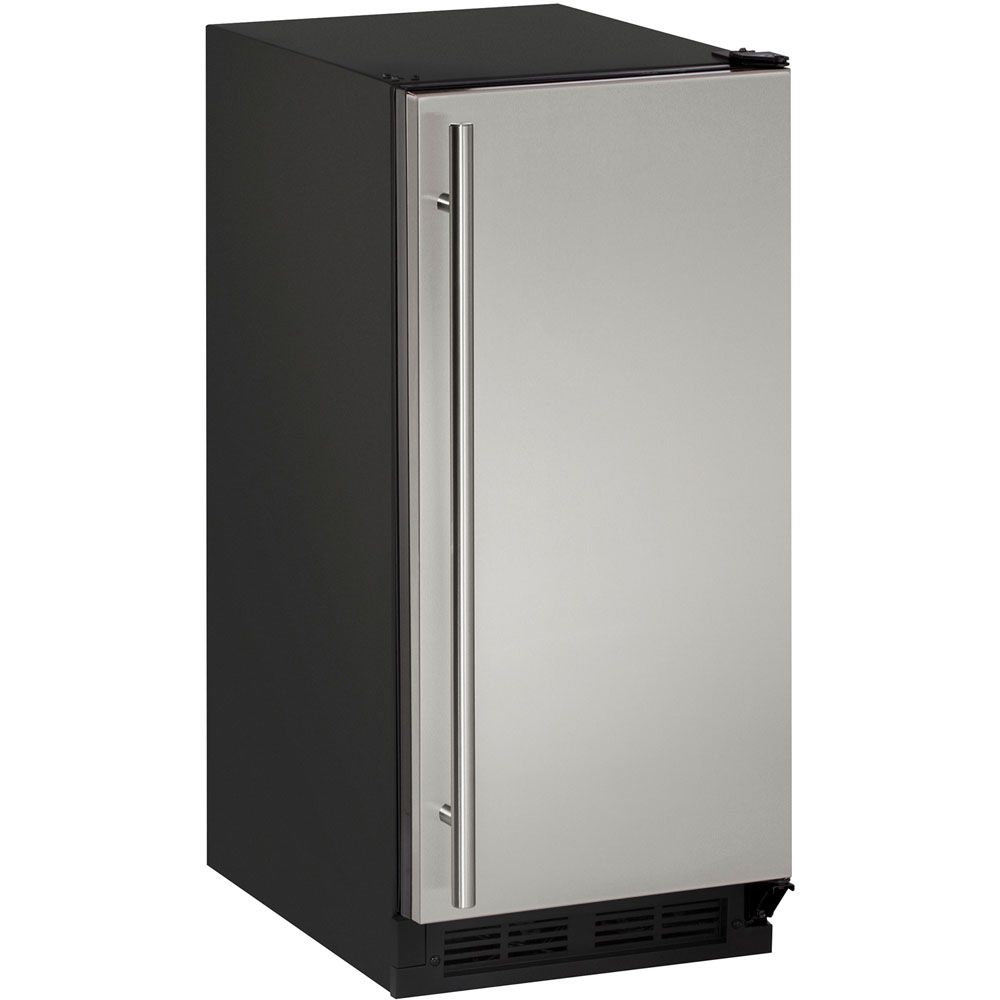 U-Line 15-In. 1000 Series Solid Door Refrigerator with Reversible Door Hinge-Stainless Steel