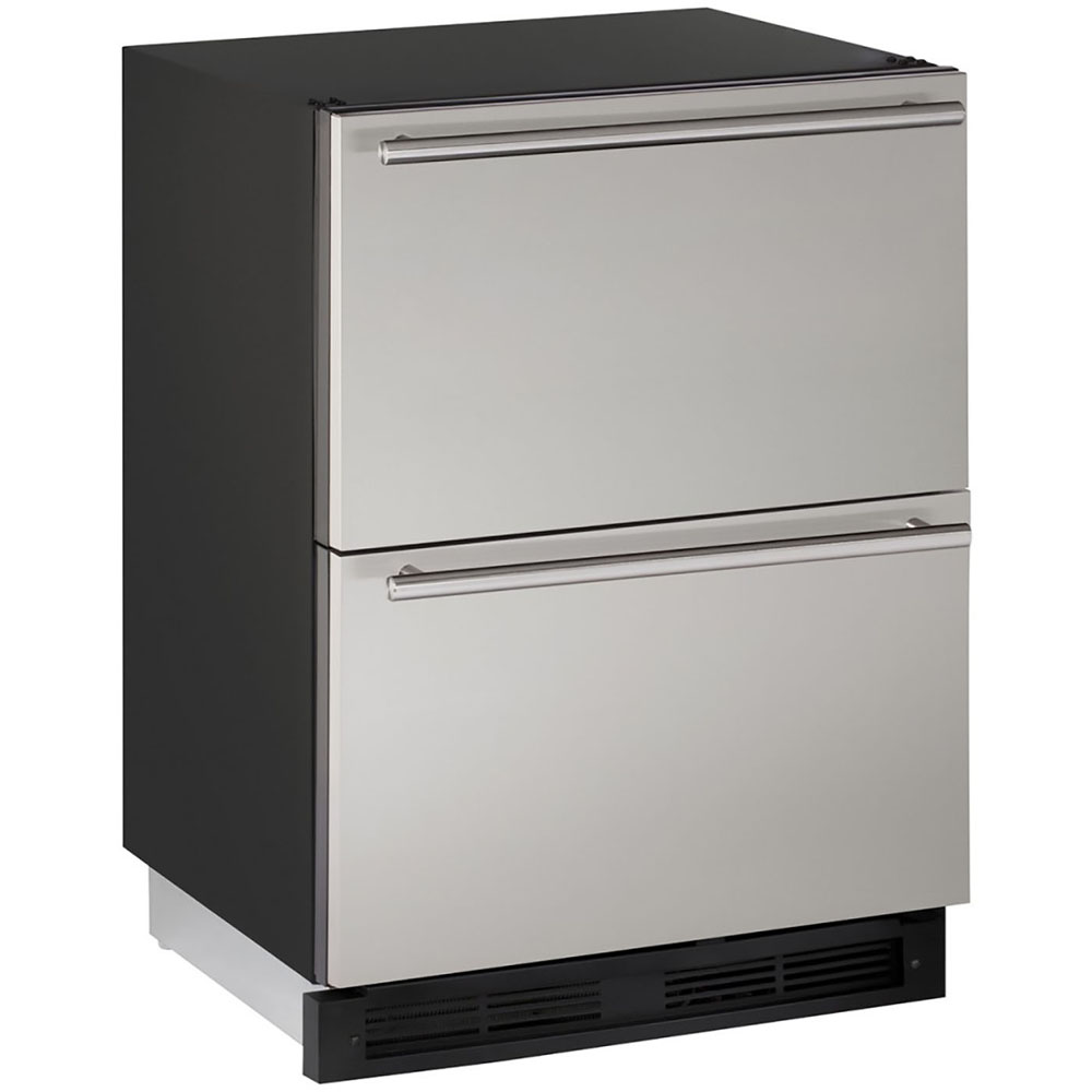 U-Line 24-In. 1000 Series Stainless Solid Refrigerator Double Drawers