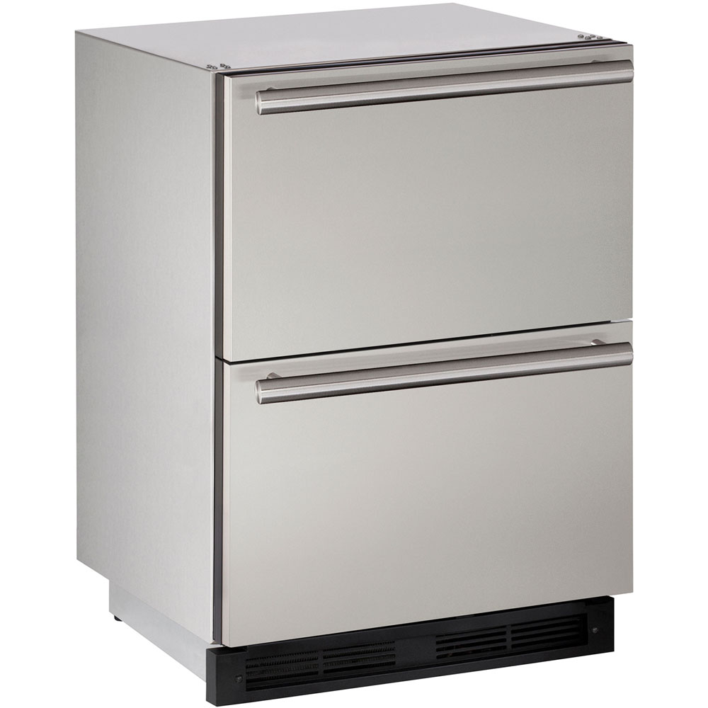 U-Line 24-In. Outdoor Series Stainless Solid Refrigerator Double Drawers