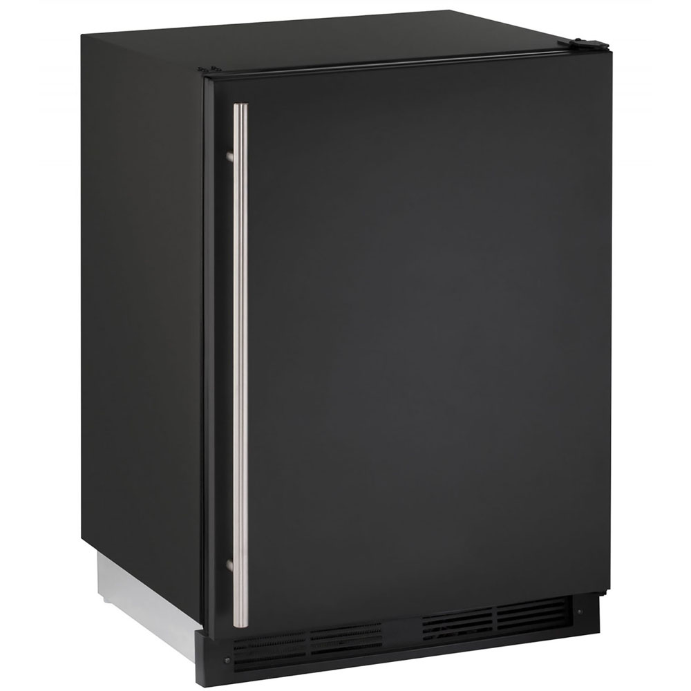 24-In. 1000 Series Black Solid Door Refrigerator with Reversible Door Hinge