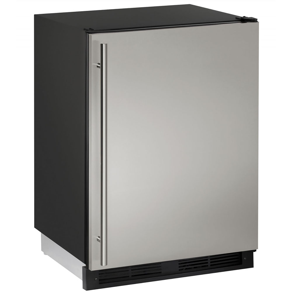 24-In. Combo Stainless Solid Refrigerator/Freezer with Reversible Door Hinge