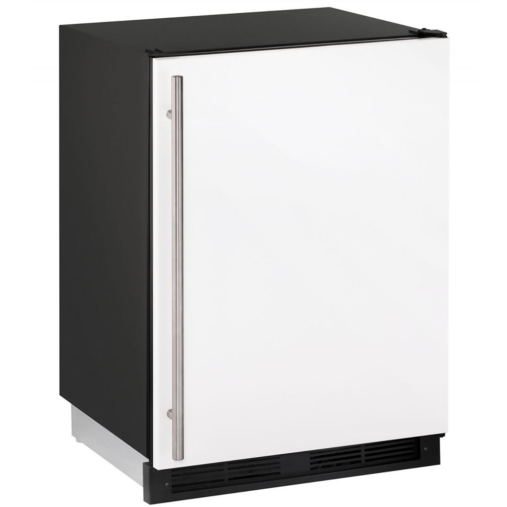 U-Line 24-In. 1000 Series White Solid Door Refrigerator with Reversible Door Hinge