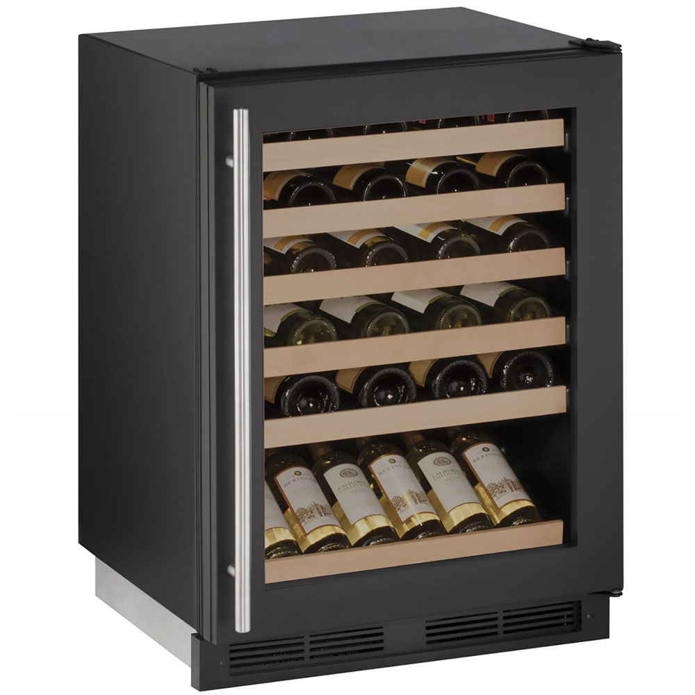 24-In. 1000 Series Black Frame Wine Captain with Reversible Door Hinge