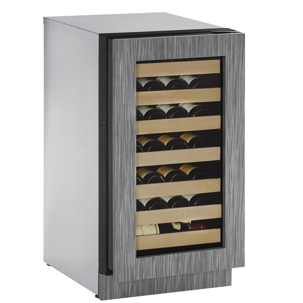 U-Line 18-In. 2000 Series Integrated Frame Wine Captain with Reversible Door Hinge