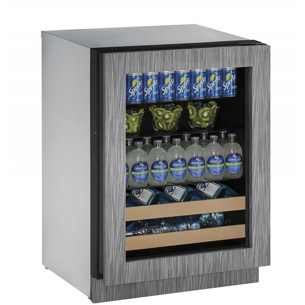 U-Line 24-In. 2000 Series Integrated Frame Beverage Center with Reversible Door Hinge