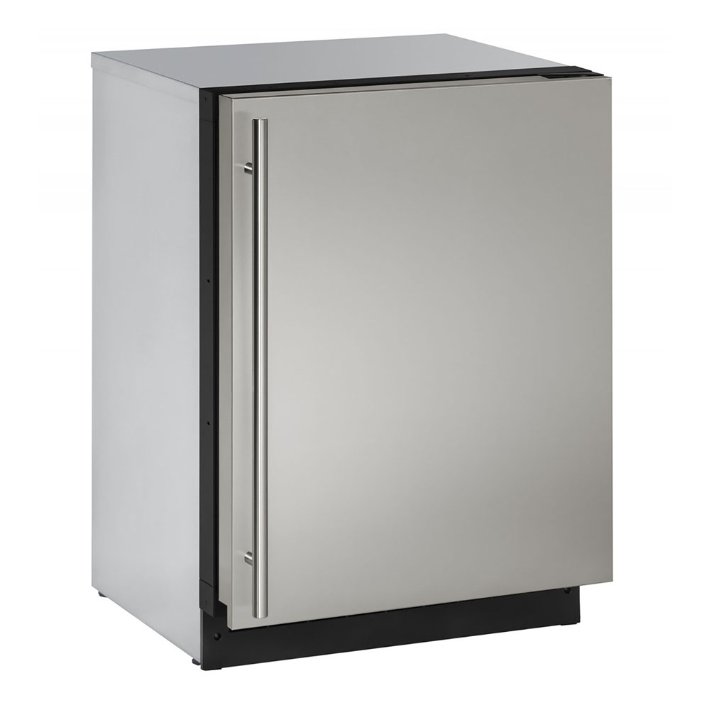 U-Line 24-In. 2000 Series Stainless Solid Door Refrigerator with Reversible Door Hinge
