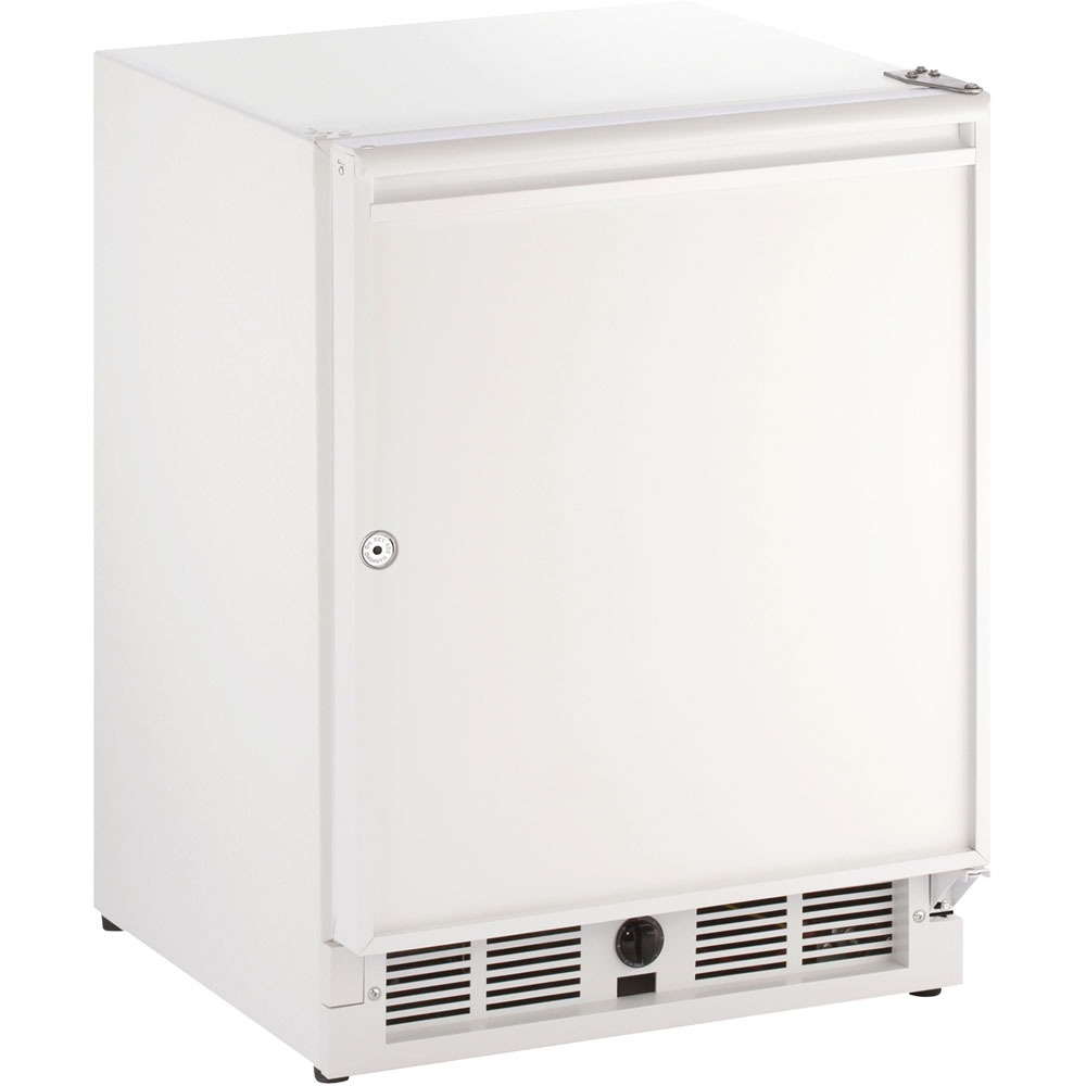 21-In. White Solid Door Refrigerator with Right-Hand Hinge and Lock